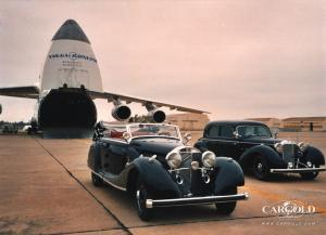 Mercedes 770 - Collection, pre-war, Verladung Antonov, Airfield Sacramento, Stefan Luftschitz, Beuerberg